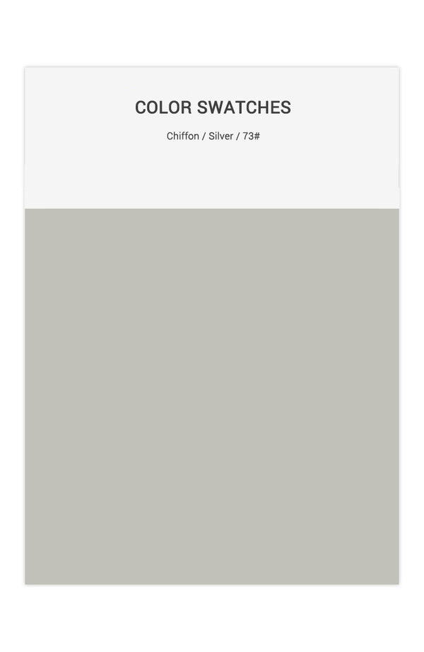 Silver Color Swatches for Chiffon Bridesmaid Dresses