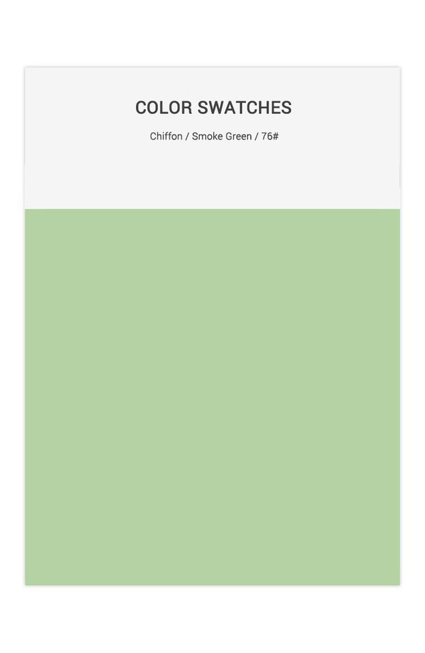 Smoke Green Color Swatches for Chiffon Bridesmaid Dresses