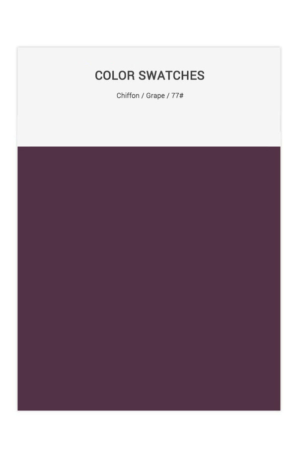 Grape Color Swatches for Chiffon Bridesmaid Dresses