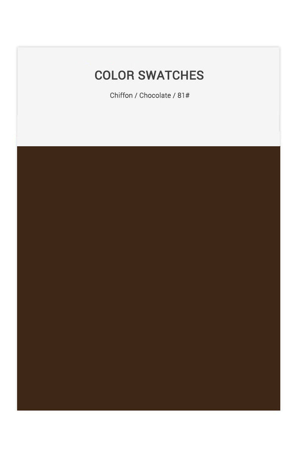 Chocolate Color Swatches for Chiffon Bridesmaid Dresses