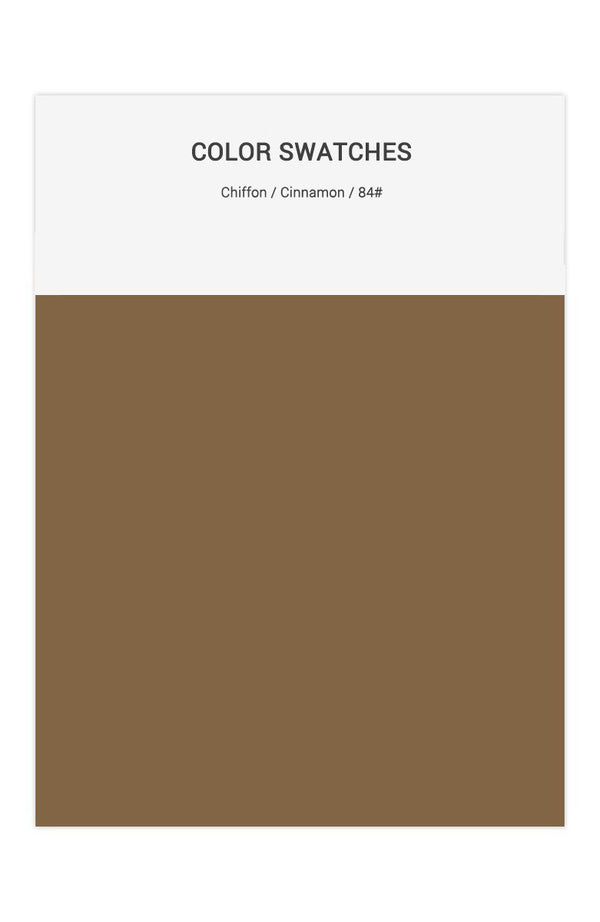 Cinnamon Color Swatches for Chiffon Bridesmaid Dresses
