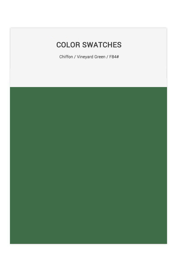 Vineyard Green Color Swatches for Chiffon Bridesmaid Dresses
