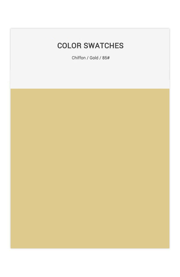 Gold Color Swatches for Chiffon Bridesmaid Dresses