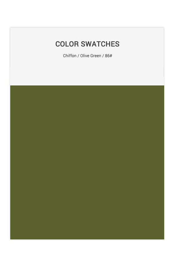 Olive Green Color Swatches for Chiffon Bridesmaid Dresses
