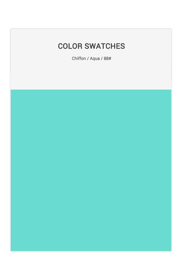 Aqua Color Swatches for Chiffon Bridesmaid Dresses