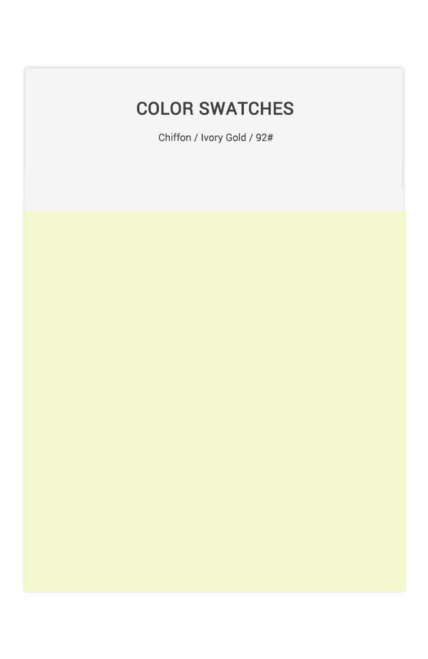 Ivory Gold Color Swatches for Chiffon Bridesmaid Dresses