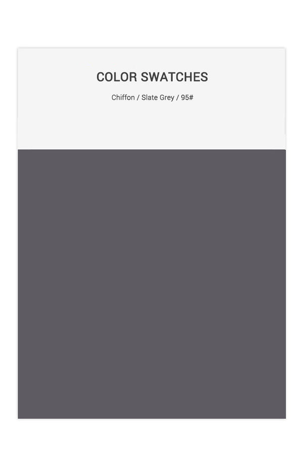 Slate Grey Color Swatches for Chiffon Bridesmaid Dresses