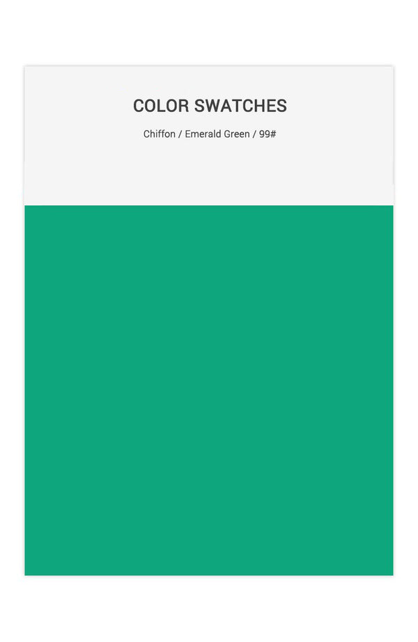 Emerald Green Color Swatches for Chiffon Bridesmaid Dresses
