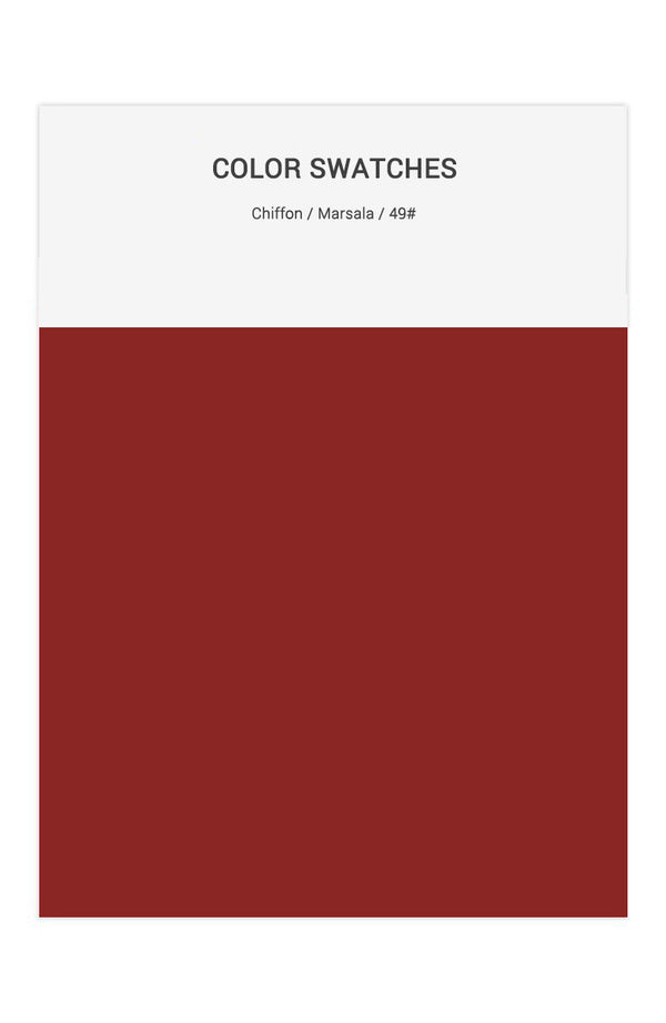 Marsala Color Swatches for Chiffon Bridesmaid Dresses