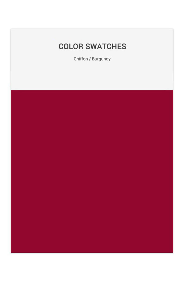 Burgundy Color Swatches for Chiffon Bridesmaid Dresses