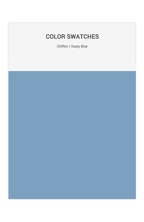 Dusty Blue Color Swatches for Chiffon Bridesmaid Dresses