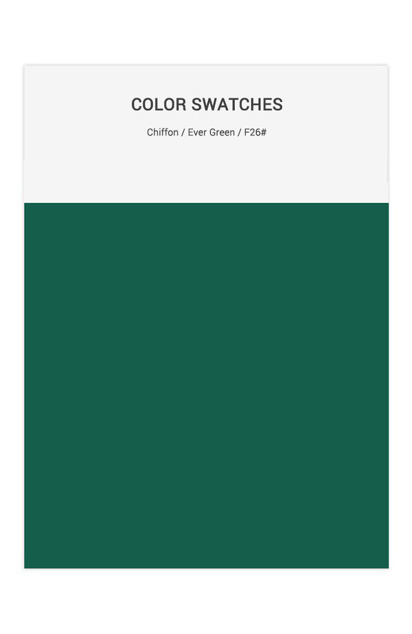 Ever Green Color Swatches for Chiffon Bridesmaid Dresses