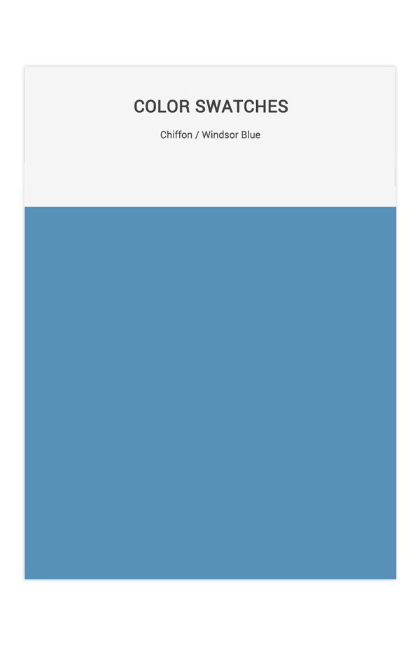 Windsor Blue Color Swatches for Chiffon Bridesmaid Dresses