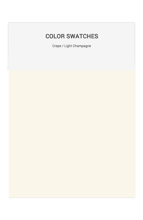 Light Champagne Color Swatches for Crepe Bridesmaid Dresses