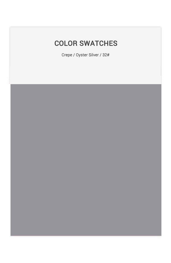 Oyster Silver Color Swatches for Crepe Bridesmaid Dresses