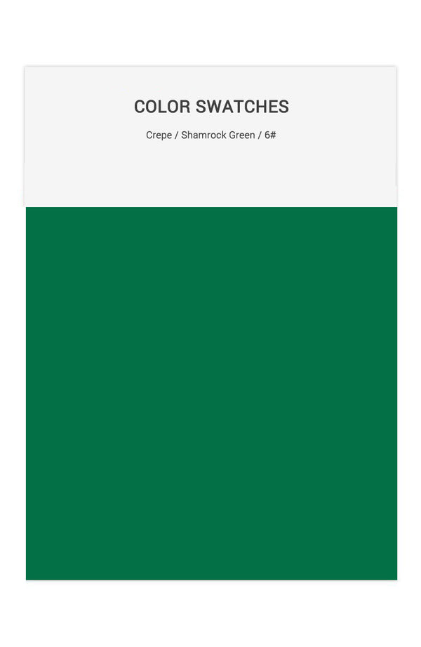 Shamrock Green Color Swatches for Crepe Bridesmaid Dresses