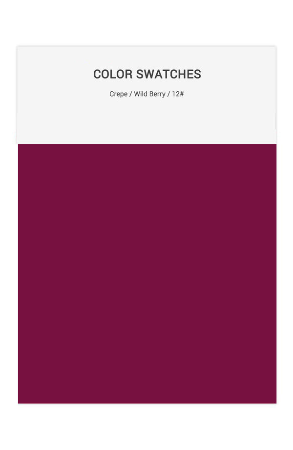 Wild Berry Color Swatches for Crepe Bridesmaid Dresses