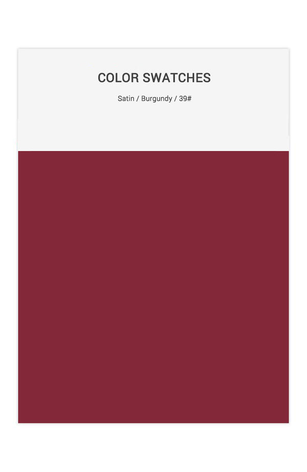 Burgundy Color Swatches for Satin Bridesmaid Dresses