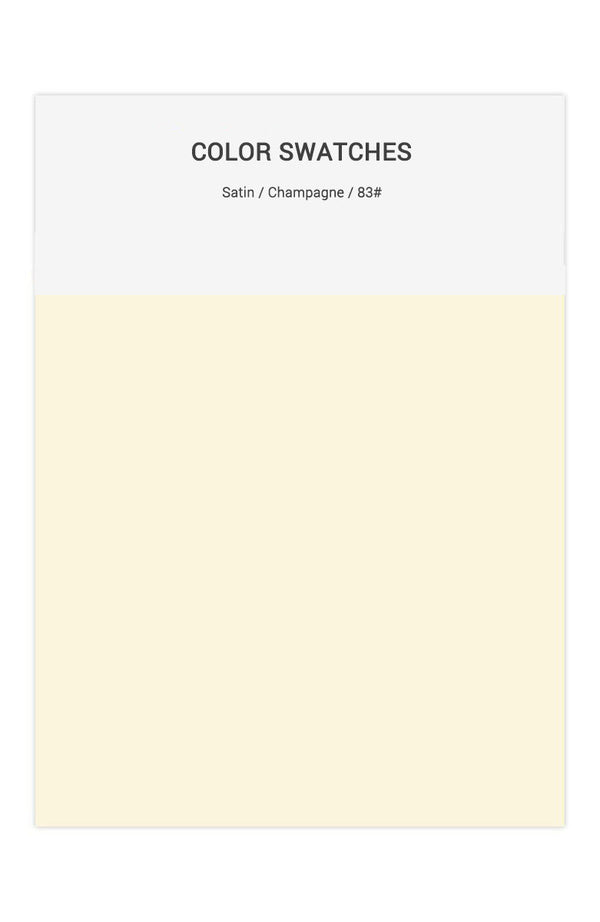 Champagne Color Swatches for Satin Bridesmaid Dresses