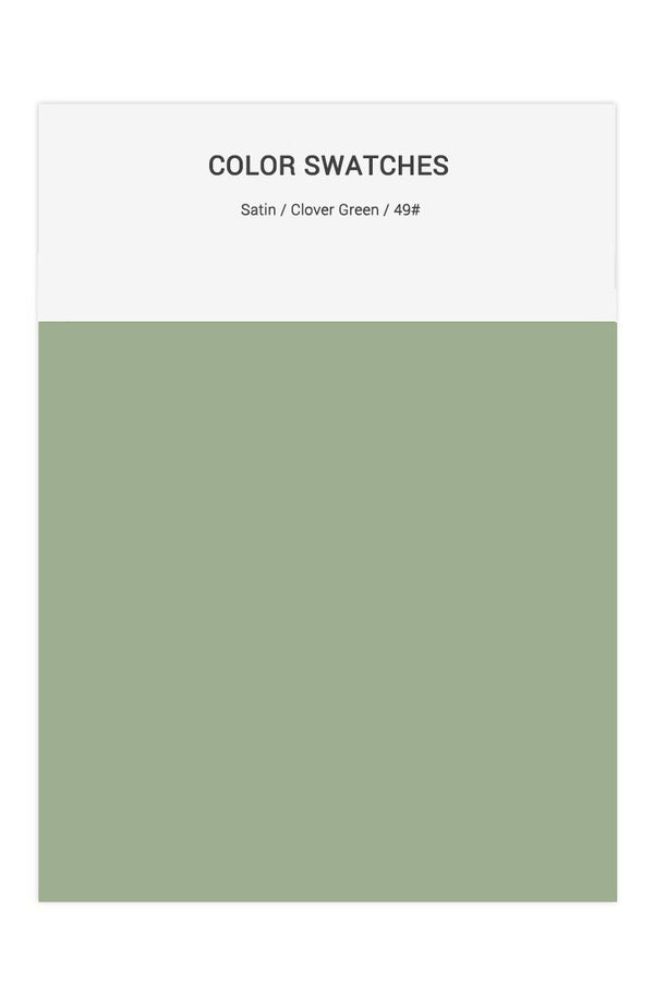 Clover Green Color Swatches for Satin Bridesmaid Dresses