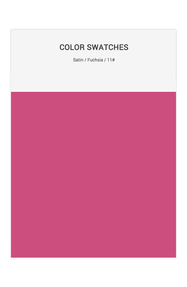 Fuchsia Color Swatches for Satin Bridesmaid Dresses