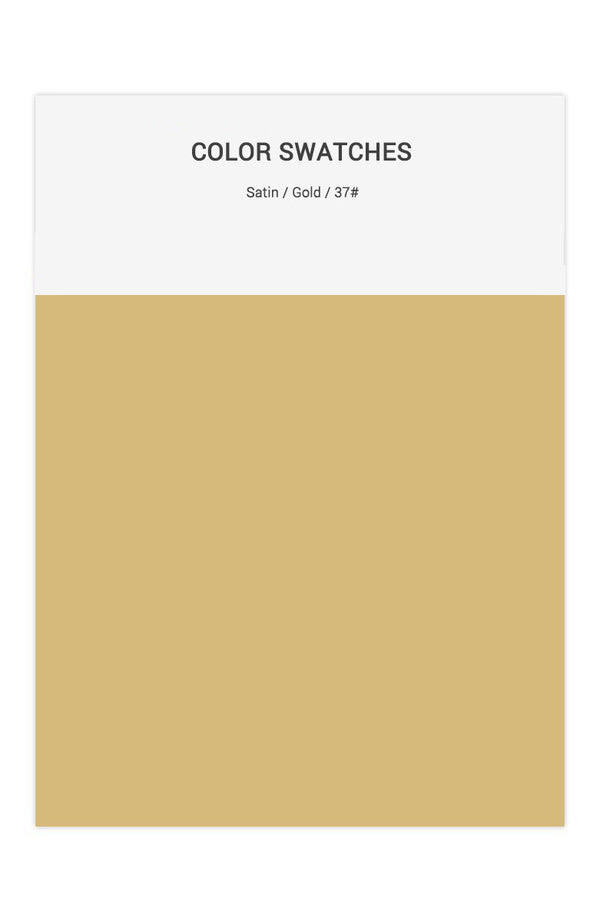 Gold Color Swatches for Satin Bridesmaid Dresses
