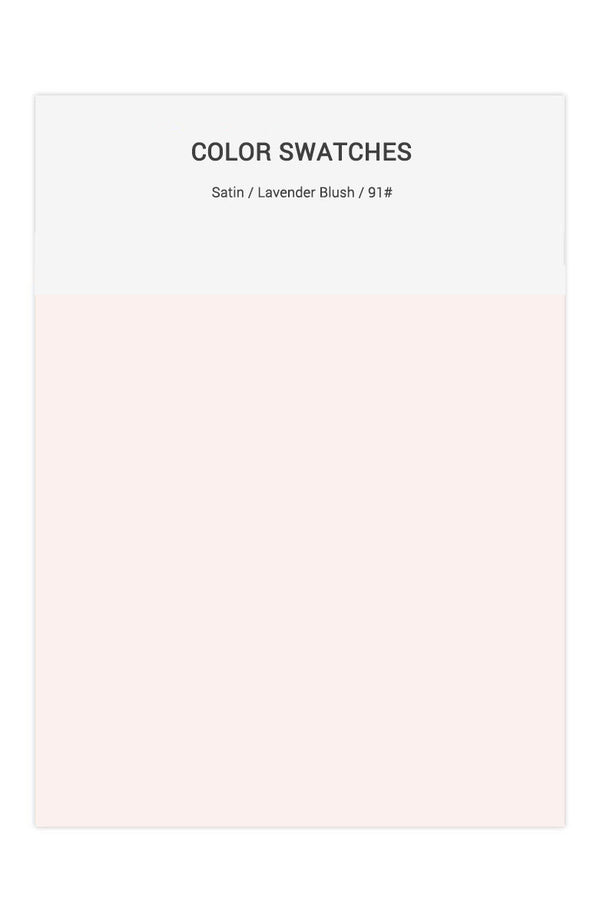 Lavender Blush Color Swatches for Satin Bridesmaid Dresses