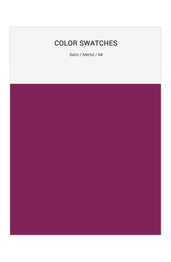 Merlot Color Swatches for Satin Bridesmaid Dresses