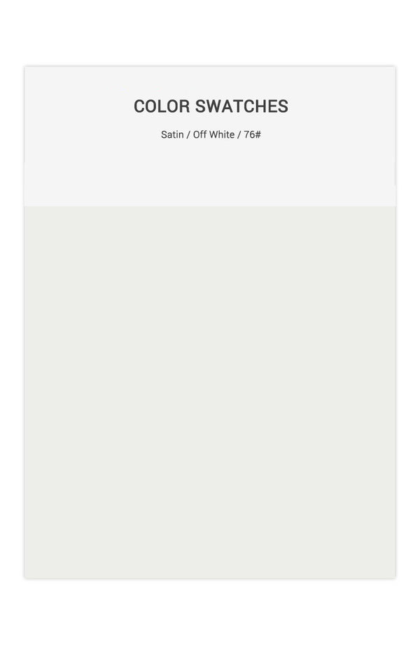 Off White Color Swatches for Satin Bridesmaid Dresses