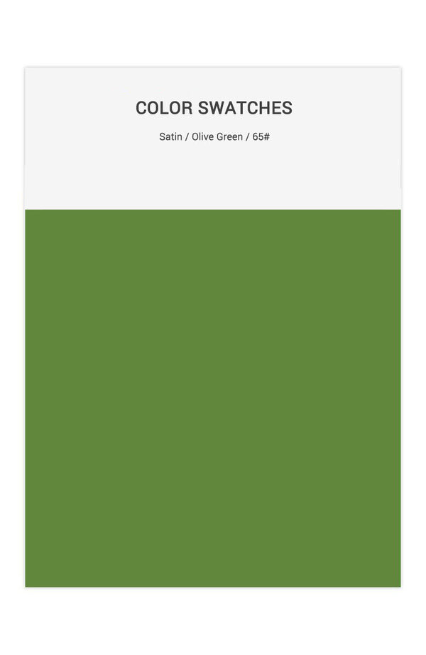 Olive Green Color Swatches for Satin Bridesmaid Dresses