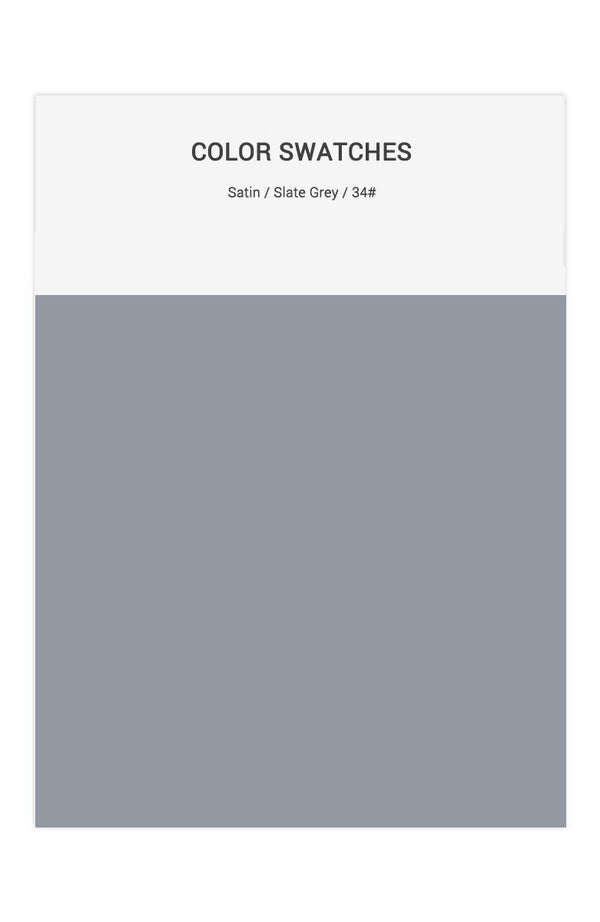 Slate Grey Color Swatches for Satin Bridesmaid Dresses