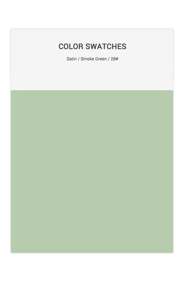 Smoke Green Color Swatches for Satin Bridesmaid Dresses