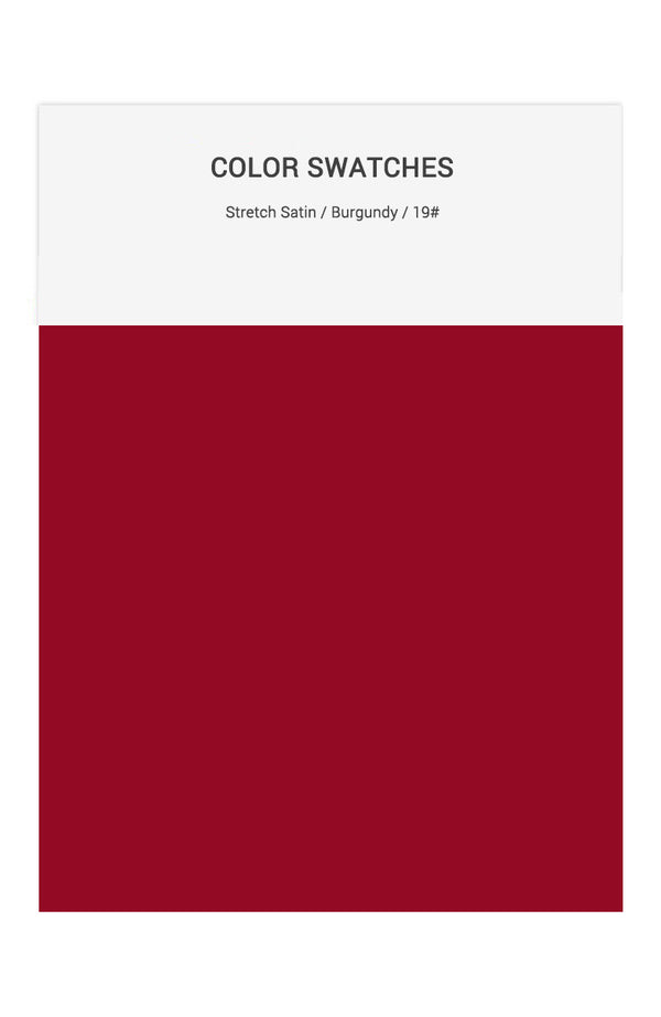 Burgundy Color Swatches for Stretch Satin Bridesmaid Dresses