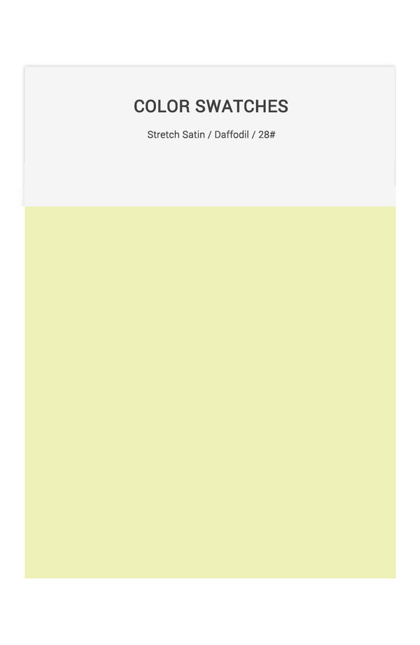 Daffodil Color Swatches for Stretch Satin Bridesmaid Dresses