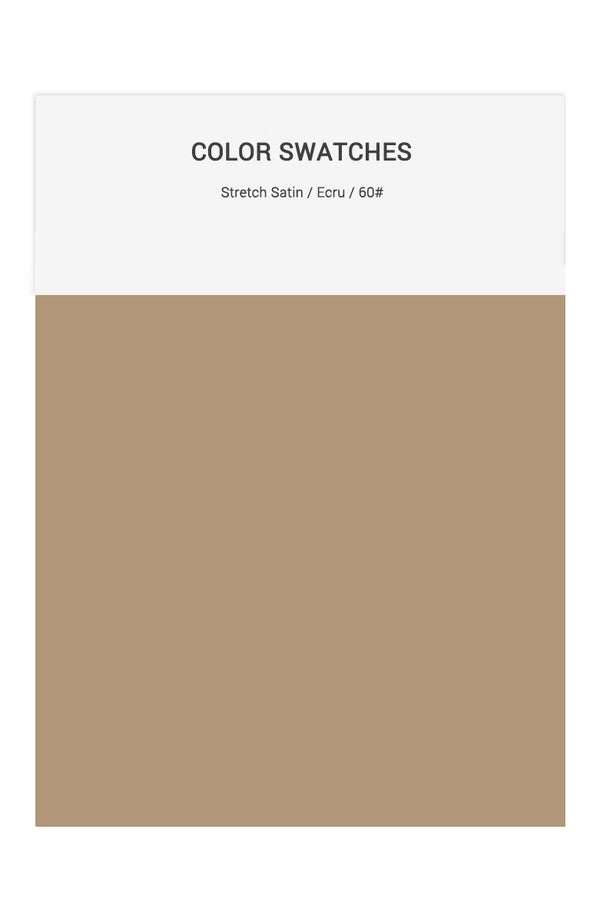 Ecru Color Swatches for Stretch Satin Bridesmaid Dresses