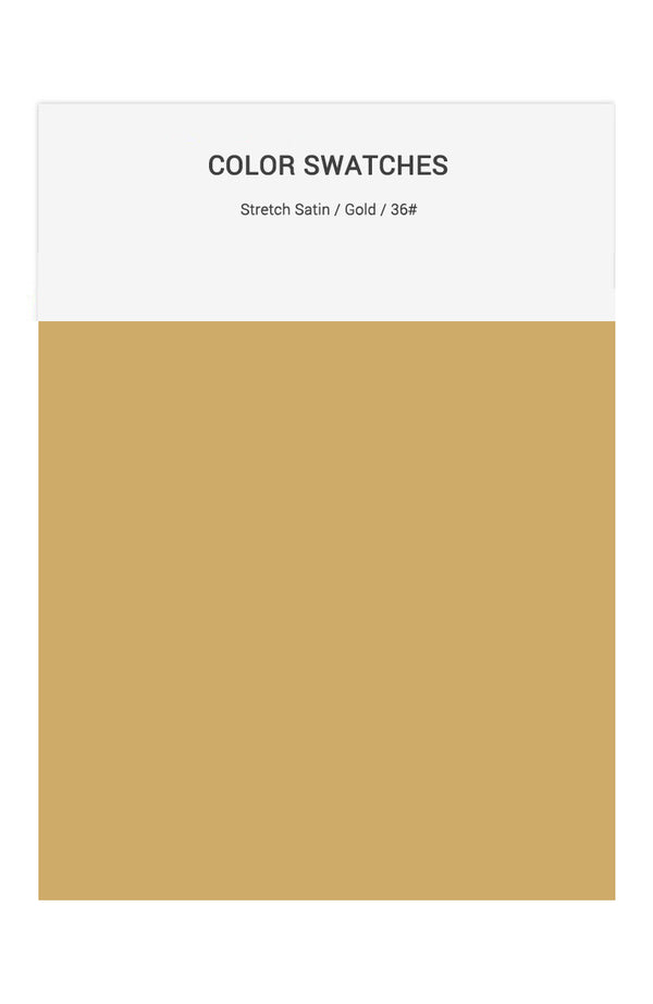 Gold Color Swatches for Stretch Satin Bridesmaid Dresses