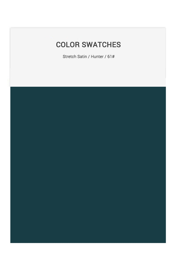 Hunter Color Swatches for Stretch Satin Bridesmaid Dresses