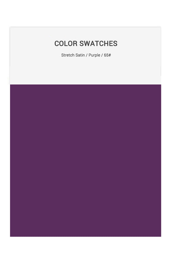Purple Color Swatches for Stretch Satin Bridesmaid Dresses