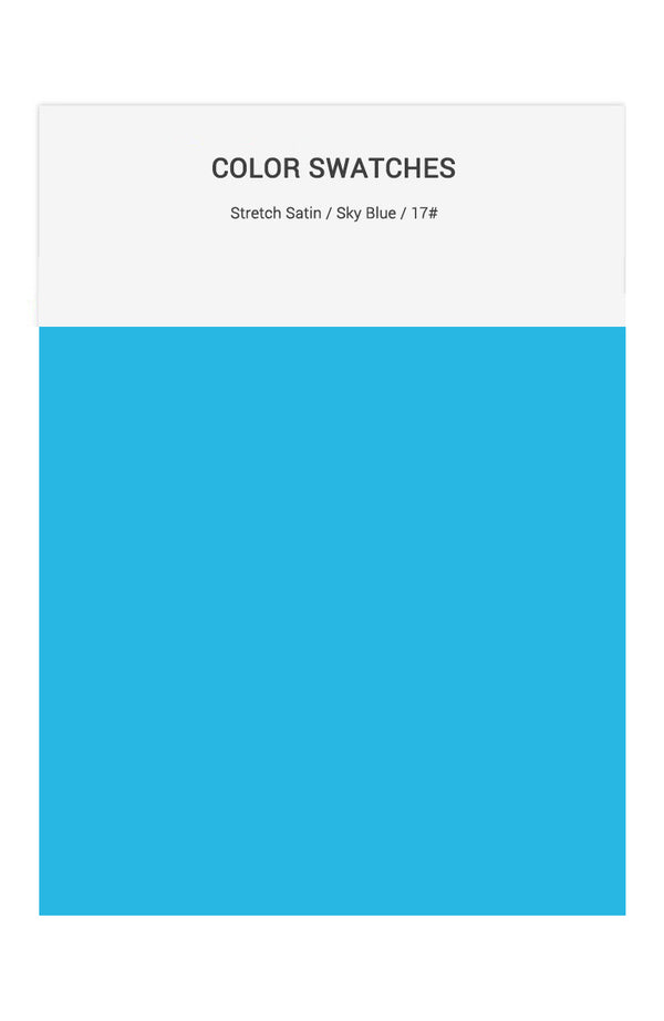 Sky Blue Color Swatches for Stretch Satin Bridesmaid Dresses