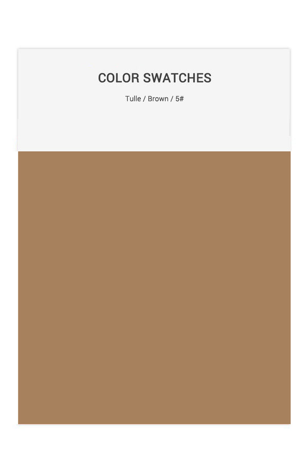 Brown Color Swatches for Tulle Bridesmaid Dresses