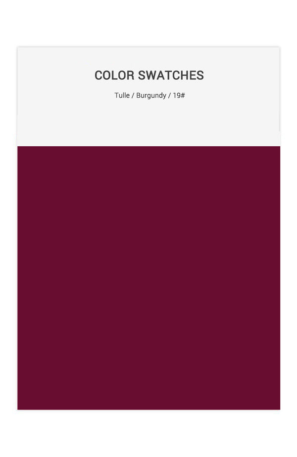 Burgundy Color Swatches for Tulle Bridesmaid Dresses