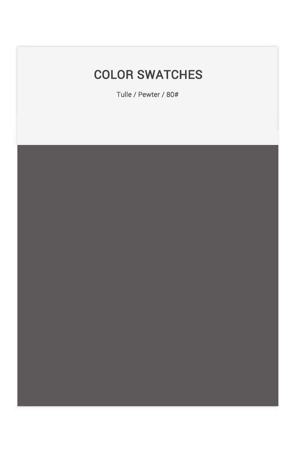Pewter Color Swatches for Tulle Bridesmaid Dresses