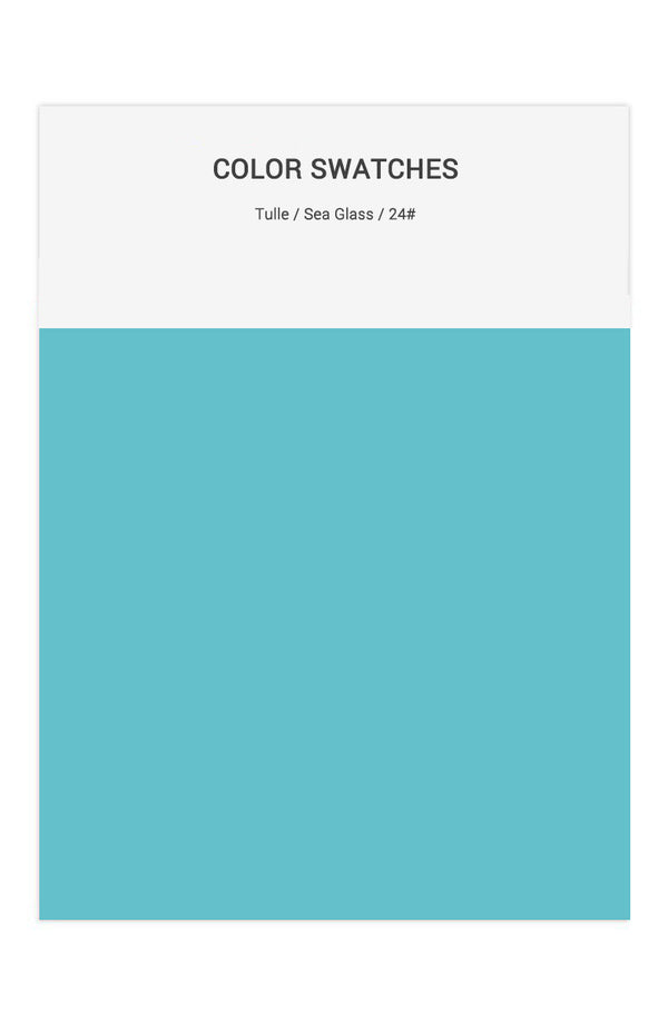 Sea Glass Color Swatches for Tulle Bridesmaid Dresses