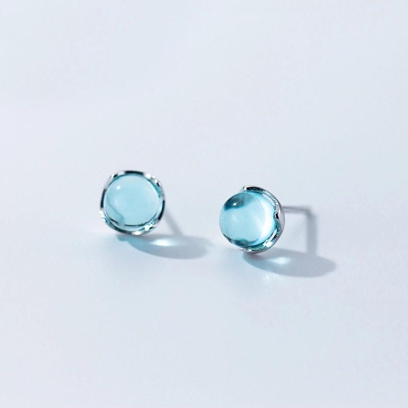 Clean Waves Jewellery Beautiful Blue Sparkling Sterling Silver Earrings