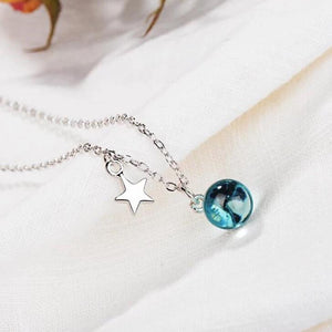 Clean Waves Jewellery Blue Planet Sterling Silver Necklace