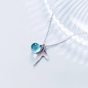 Clean Waves Jewellery Mermaid Tail Sterling Silver Necklace