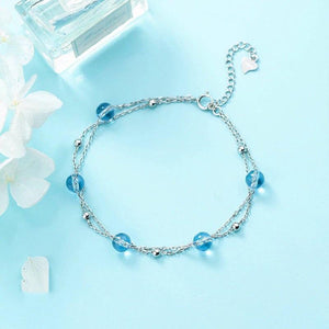 Clean Waves Jewellery Ocean Blue Sterling Silver Bracelet