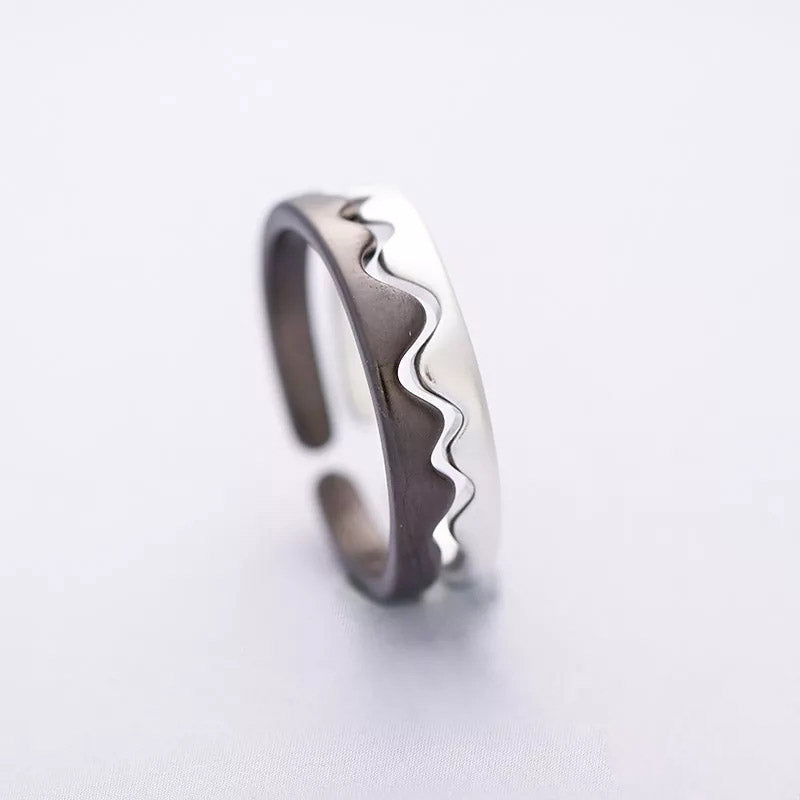 Ride the Ocean Wave Sterling Silver Rings