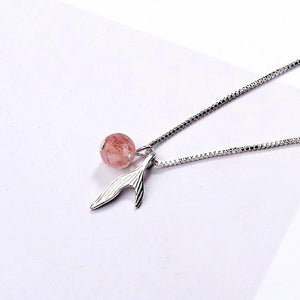 Clean Waves Jewellery Pink Mermaid Tail Sterling Silver Necklace