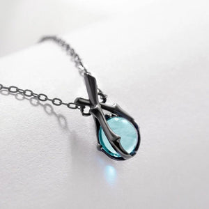 Clean Waves Jewellery Precious Blue Sterling Silver Necklace
